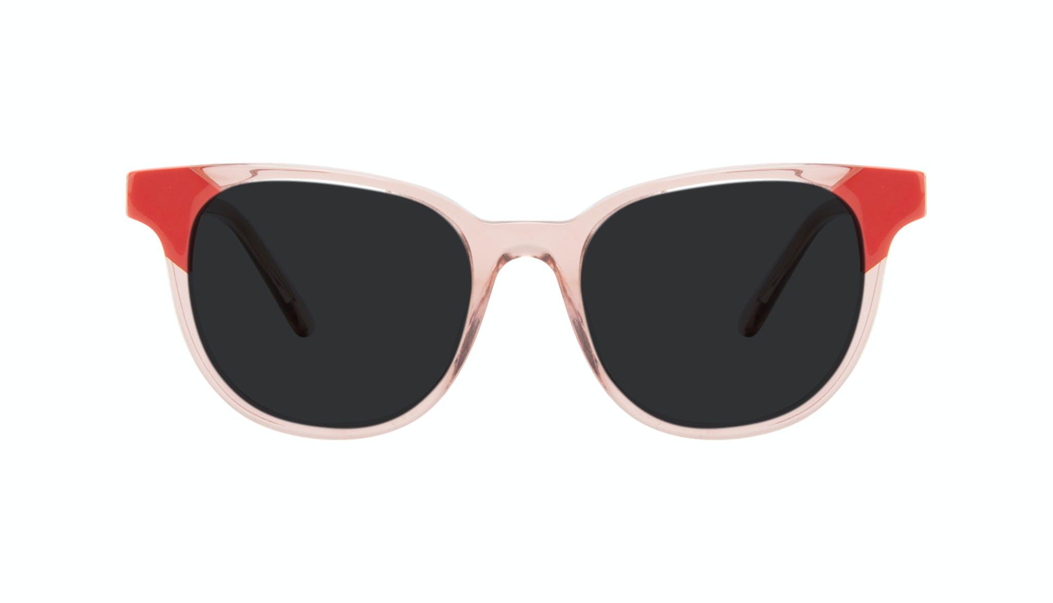 Lunettes tendance Carrée Lunettes de soleil Femmes Lively Pink Coral