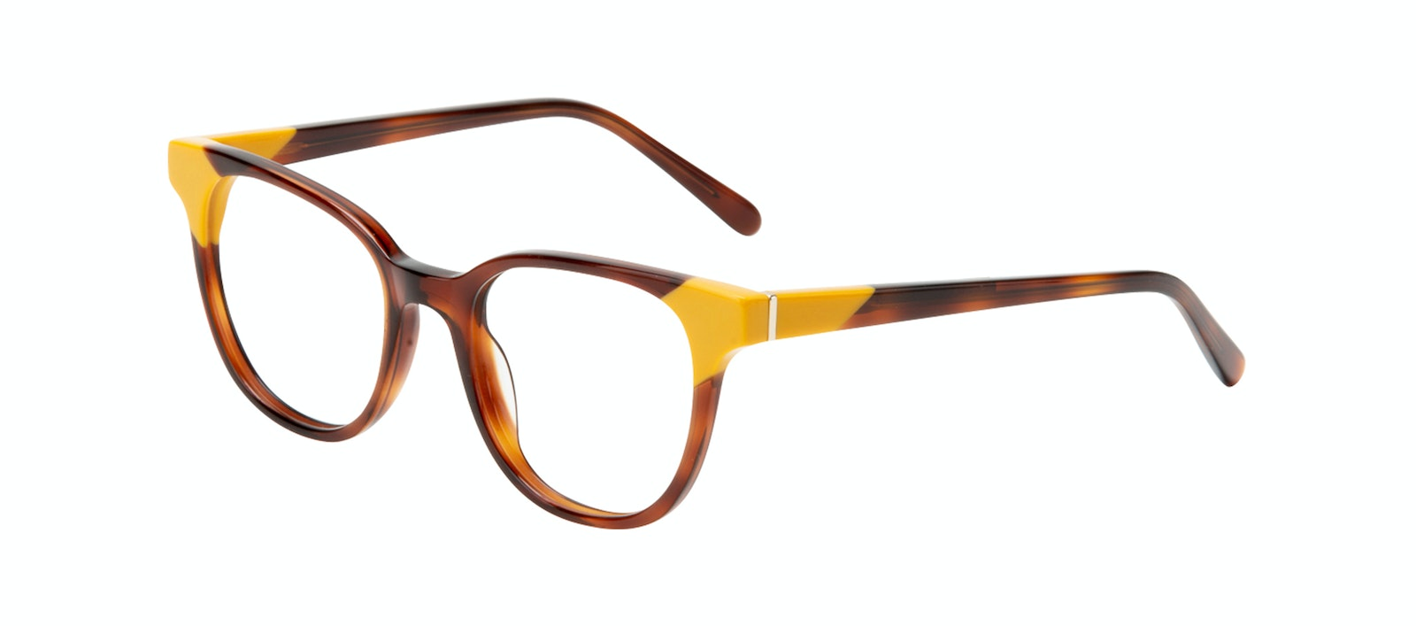 Affordable Fashion Glasses Square Eyeglasses Women Lively Yellow Pop Tilt