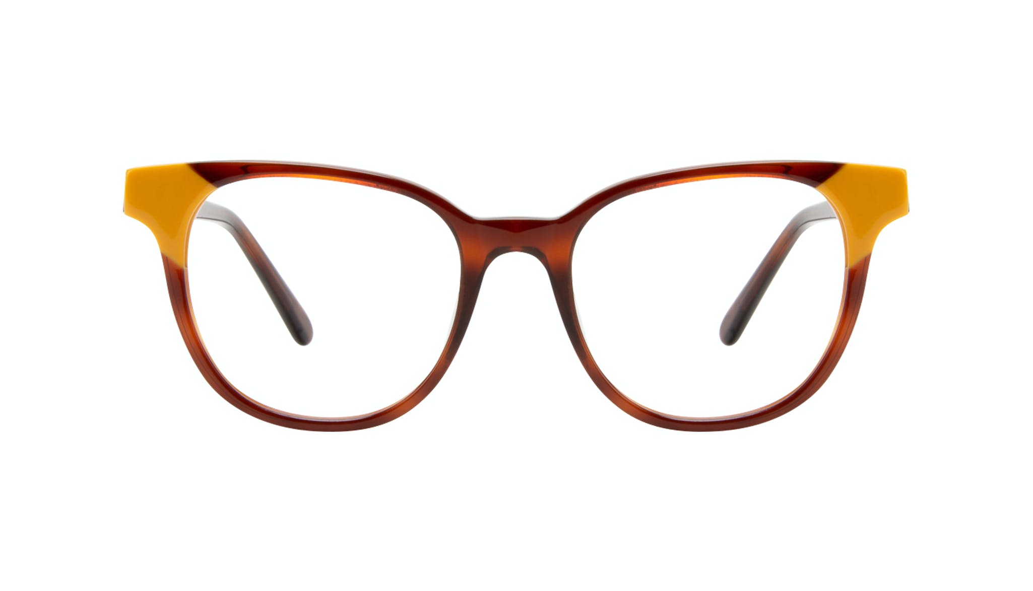 Affordable Fashion Glasses Square Eyeglasses Women Lively Yellow Pop Front