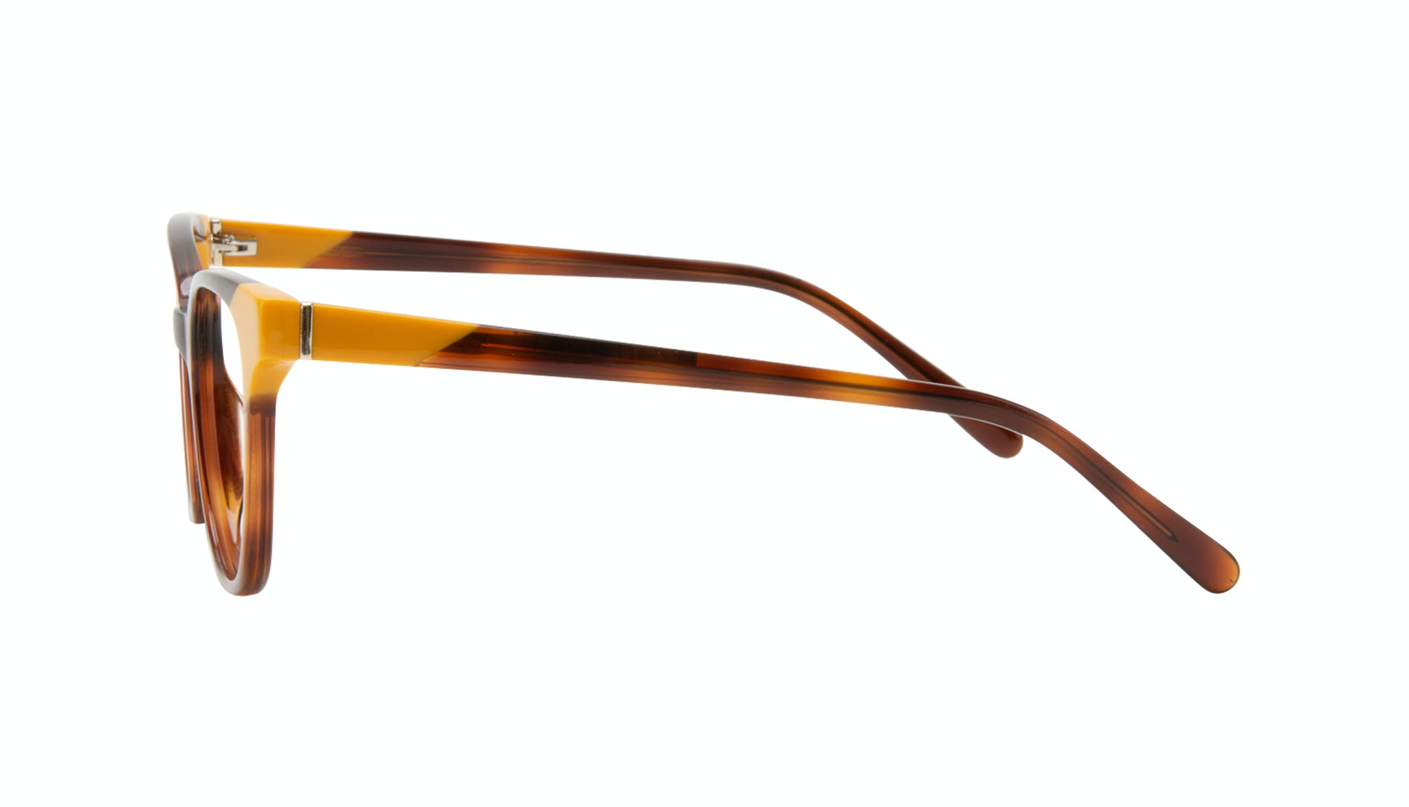 Affordable Fashion Glasses Square Eyeglasses Women Lively Yellow Pop Side