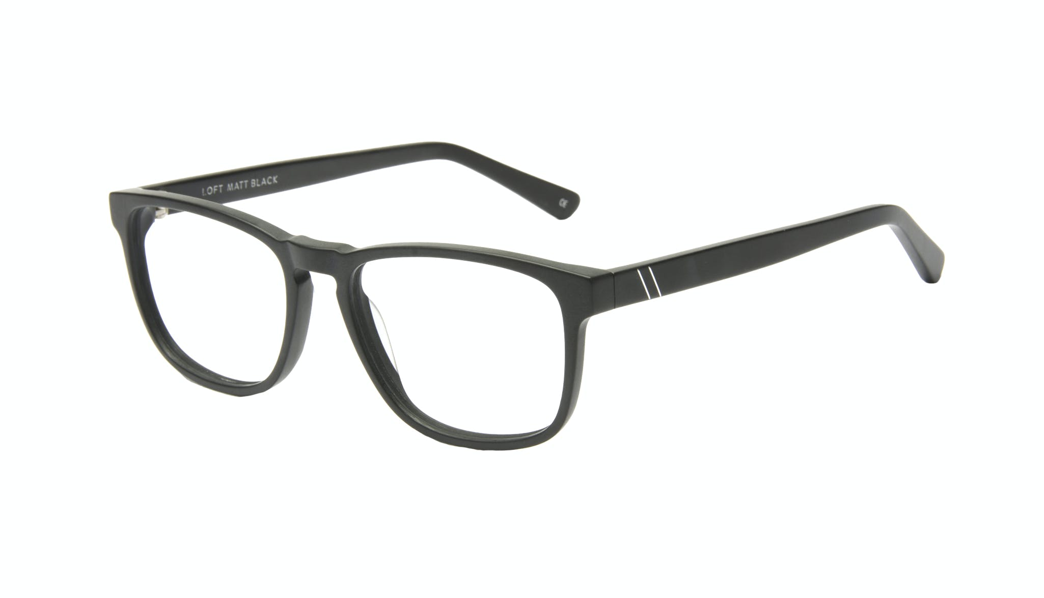 Affordable Fashion Glasses Rectangle Eyeglasses Men Loft Matte Black Tilt