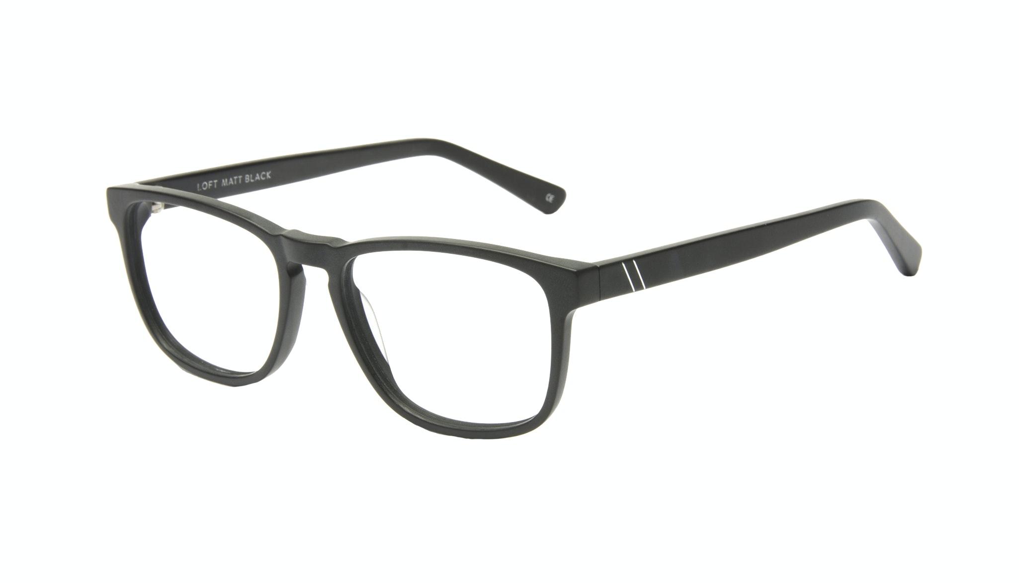 Affordable Fashion Glasses Rectangle Eyeglasses Men Loft Black Matte Tilt