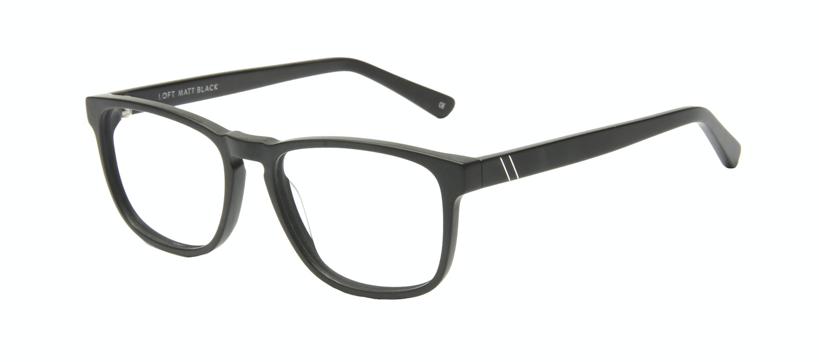 Affordable Fashion Glasses Rectangle Eyeglasses Men Loft Black Matte Tilt