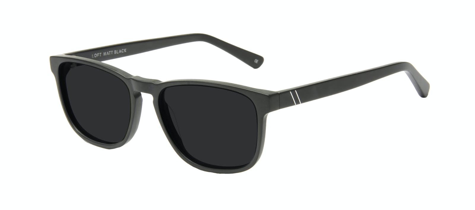 b85d8b467c2 Affordable Fashion Glasses Rectangle Sunglasses Men Loft Matte Black Tilt