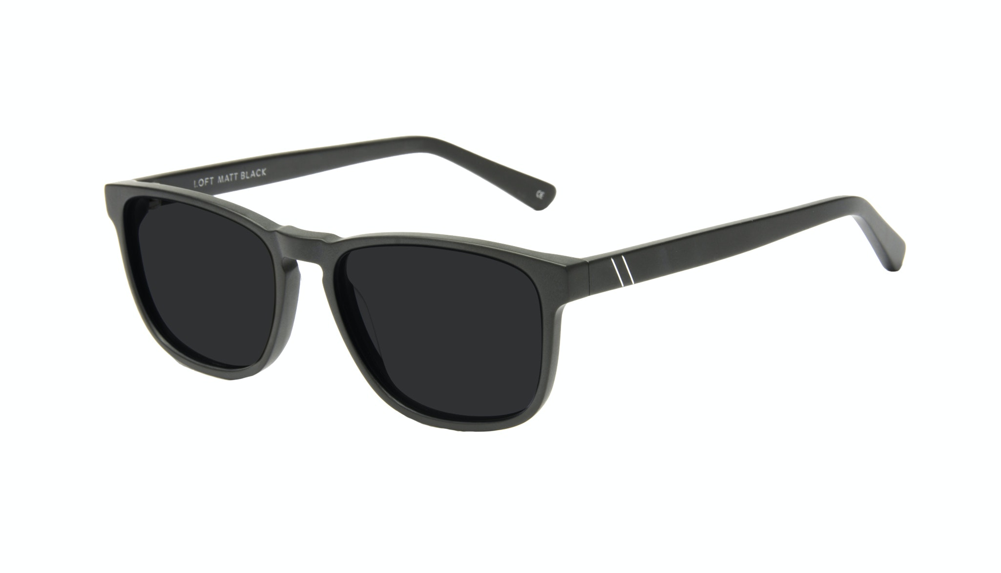 Affordable Fashion Glasses Rectangle Sunglasses Men Loft Matte Black Tilt