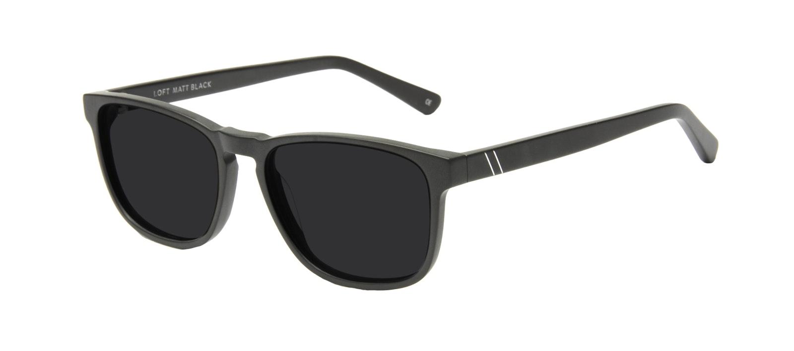 Affordable Fashion Glasses Rectangle Sunglasses Men Loft Black Matte Tilt