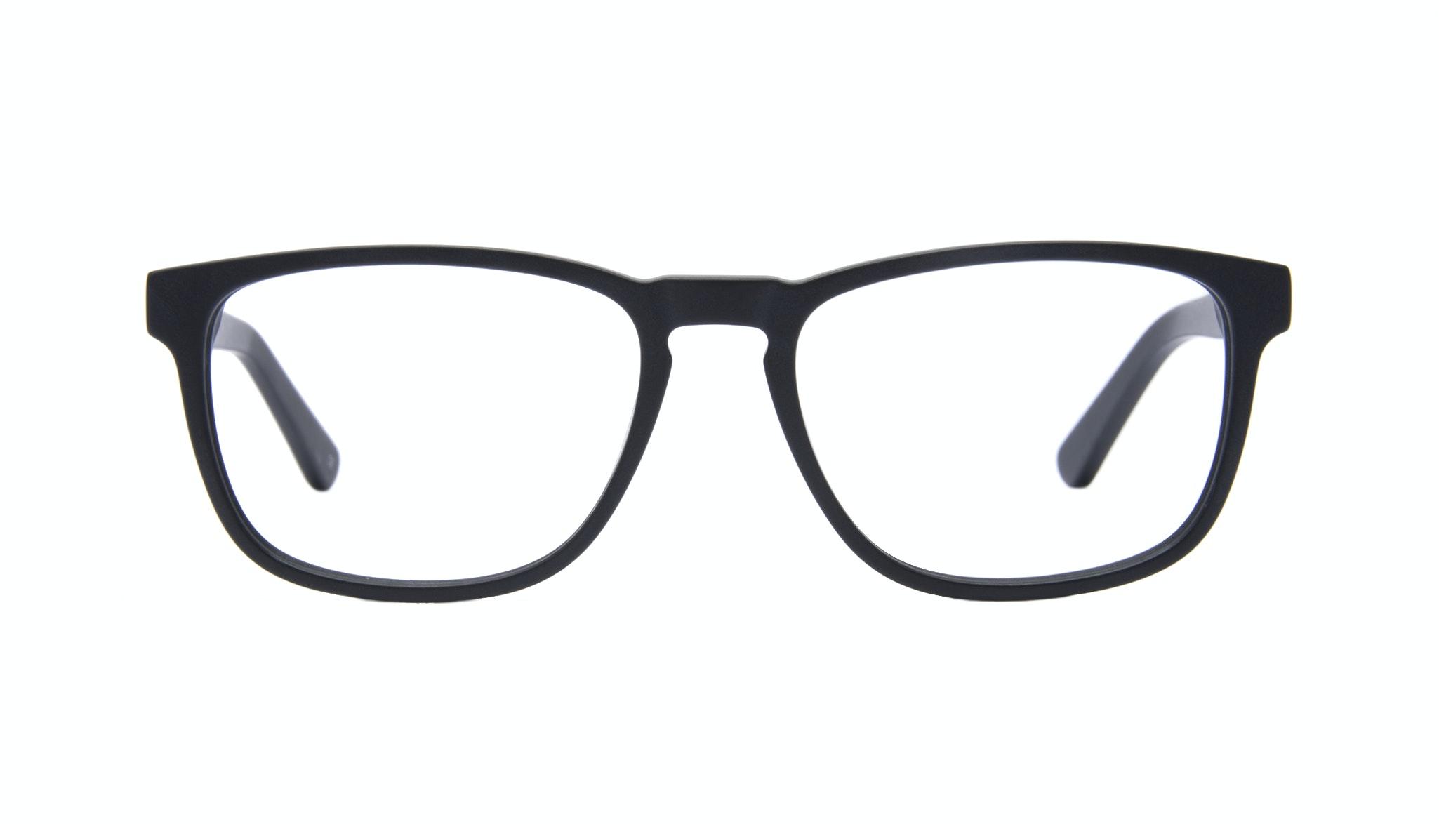 Affordable Fashion Glasses Rectangle Eyeglasses Men Loft Black Matte Front