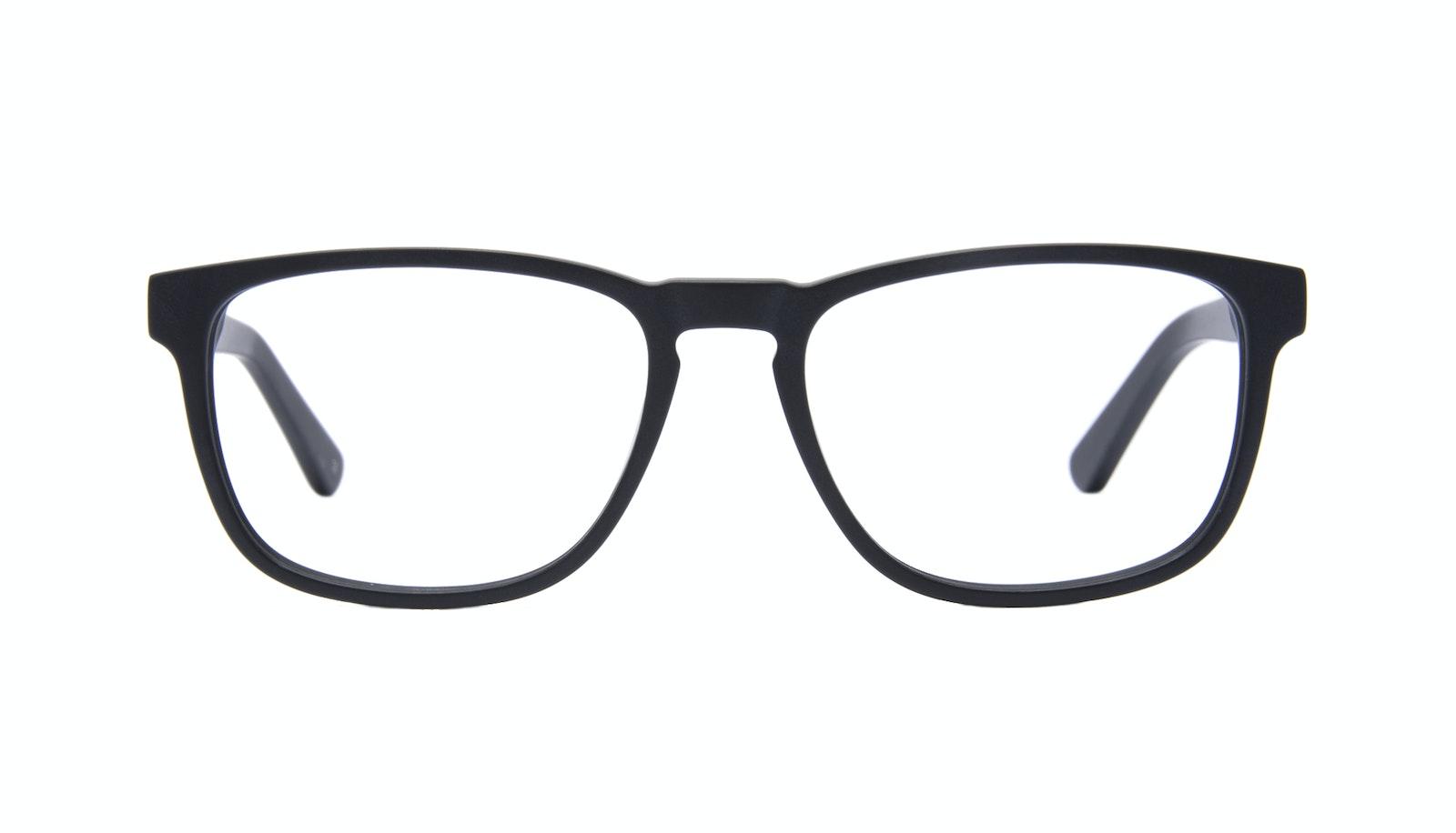 Lunettes tendance Rectangle Lunettes de vue Hommes Loft Black Matte