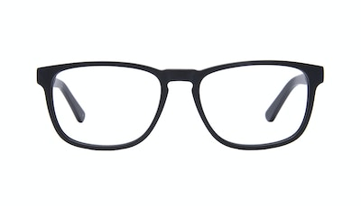 Affordable Fashion Glasses Rectangle Eyeglasses Men Loft Black Matte Front