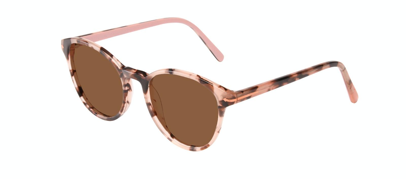 Affordable Fashion Glasses Round Sunglasses Women London Wisteria Tilt