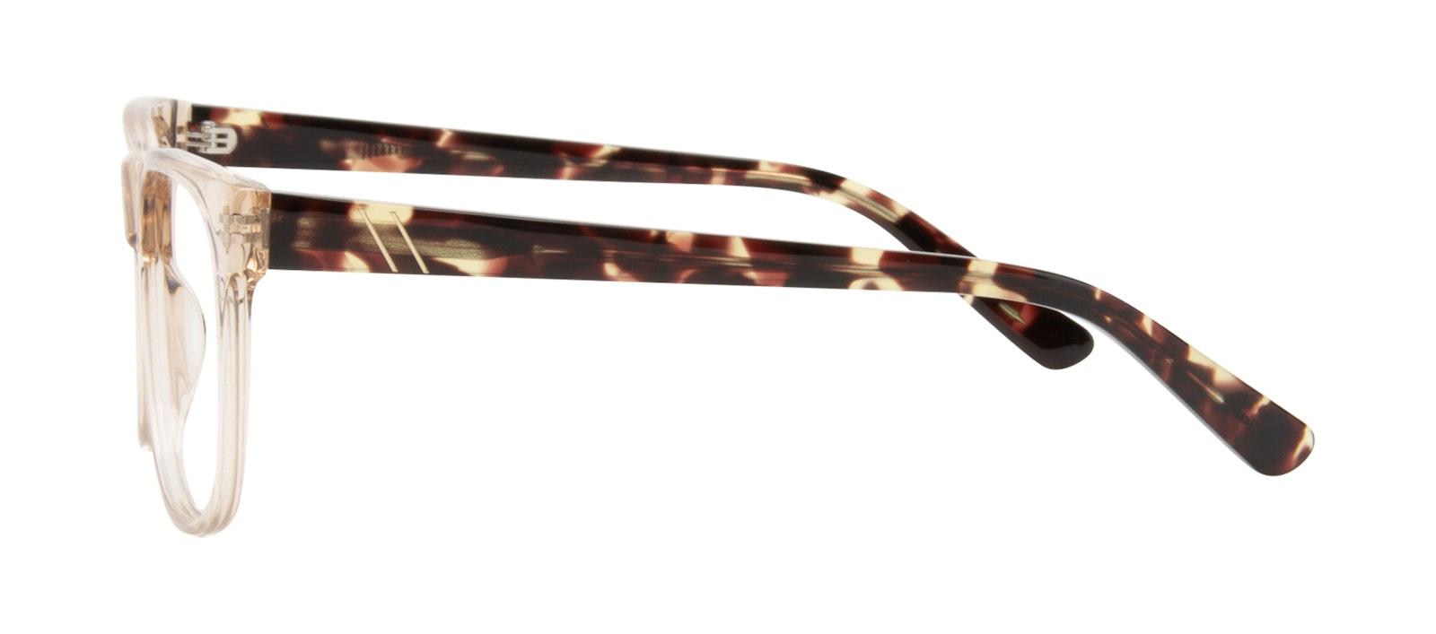 Lunettes tendance Carrée Lunettes de vue Hommes Make Golden Tort Profil