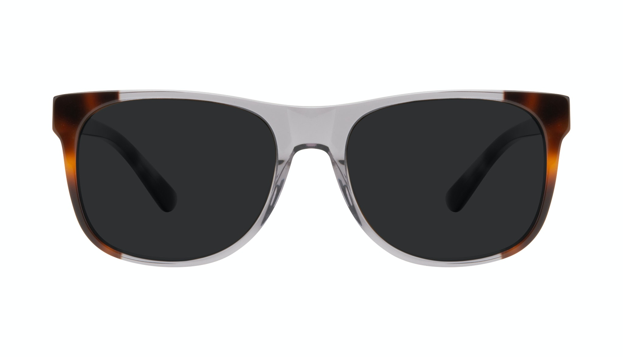 Affordable Fashion Glasses Square Sunglasses Men Make Smokey Tort Front