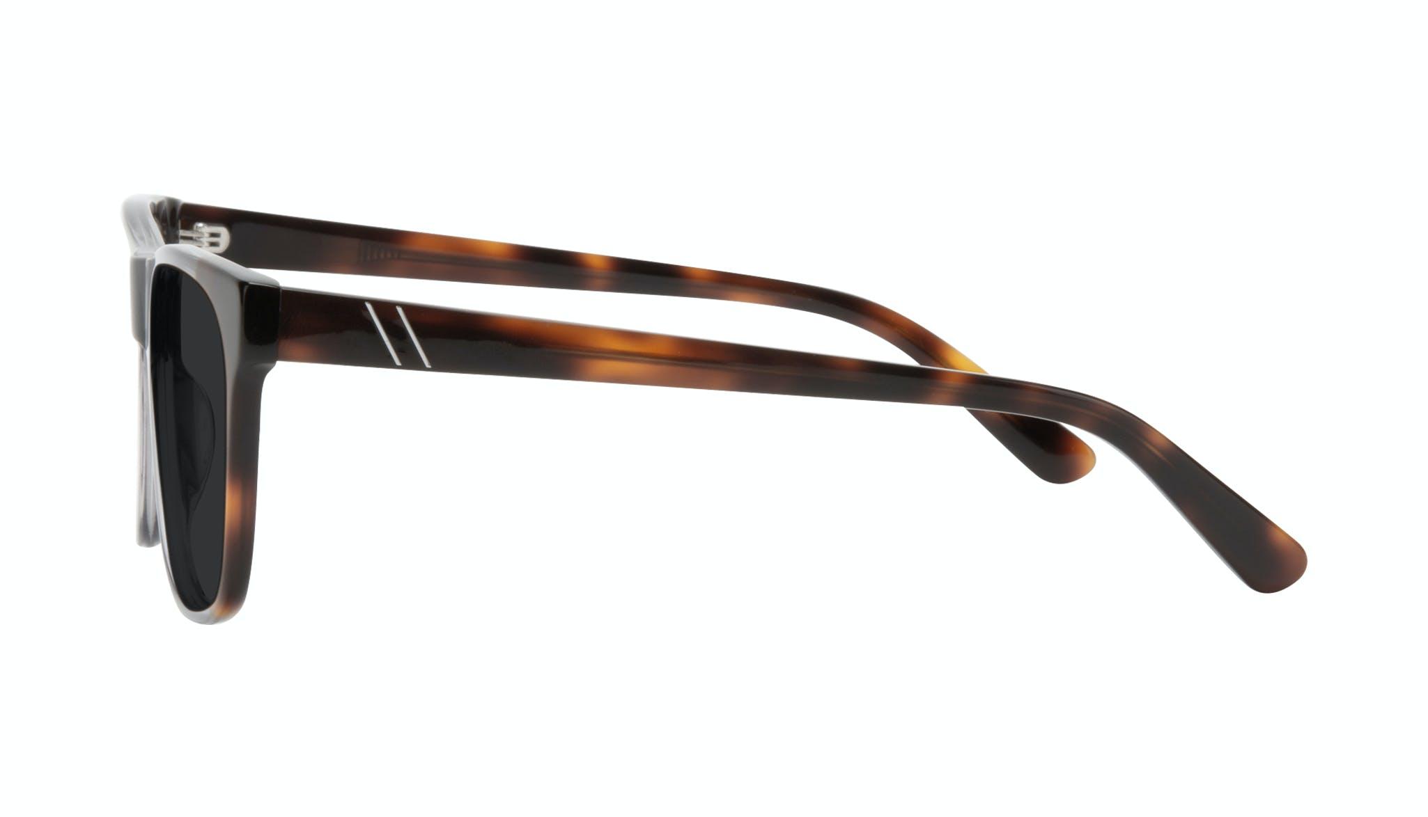 Affordable Fashion Glasses Square Sunglasses Men Make Smokey Tort Side