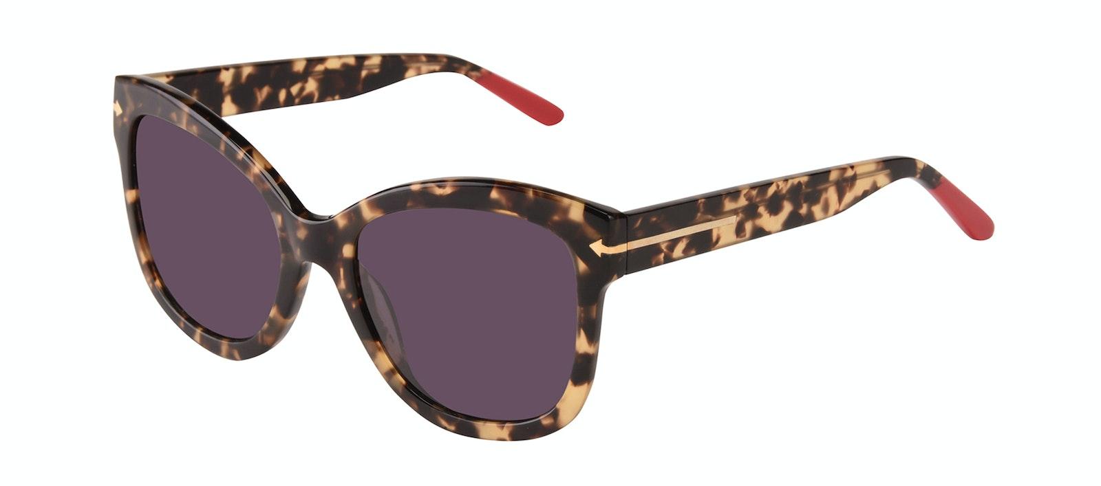 Affordable Fashion Glasses Square Sunglasses Women Marlo Espresso Tilt