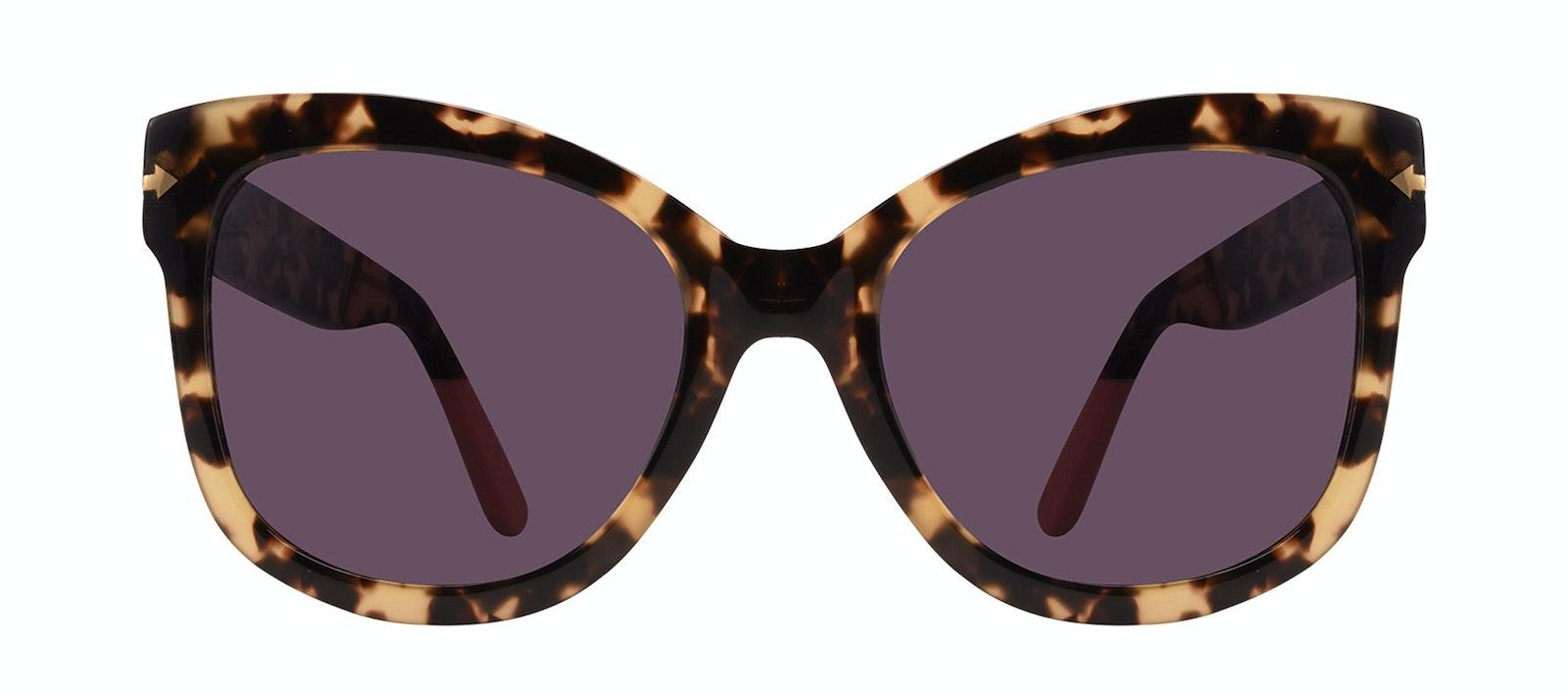 Lunettes tendance Carrée Lunettes de soleil Femmes Marlo Espresso Face