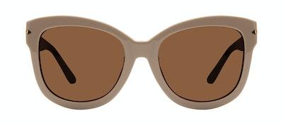 Affordable Fashion Glasses Square Sunglasses Women Marlo Latte Front