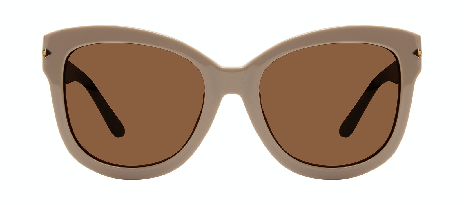 Affordable Fashion Glasses Square Sunglasses Women Marlo Latte Front