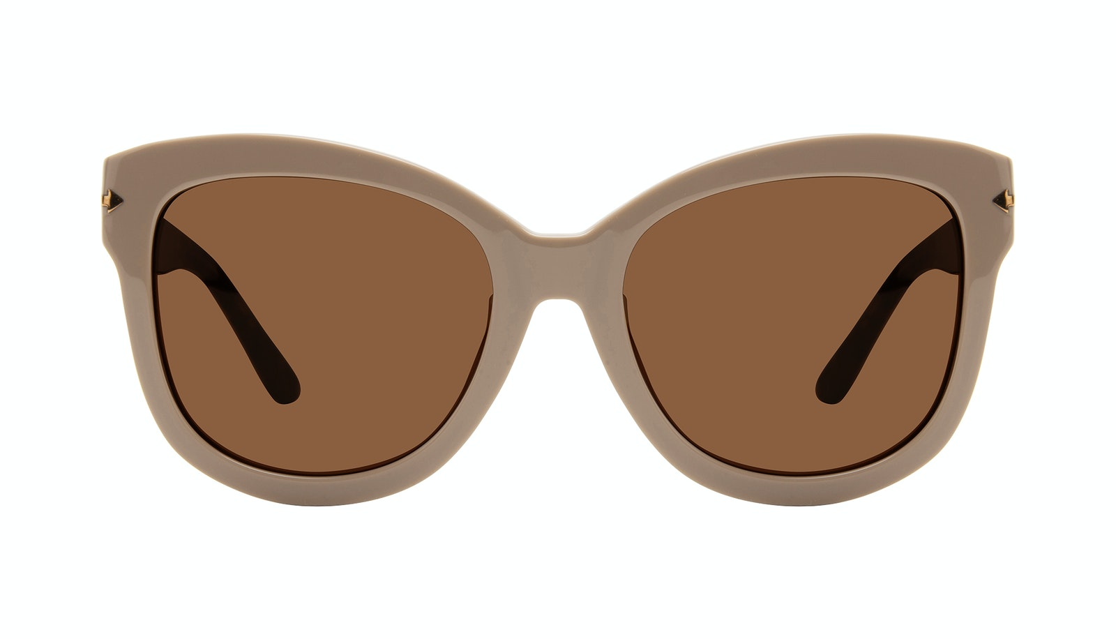 Affordable Fashion Glasses Square Sunglasses Women Marlo Latte