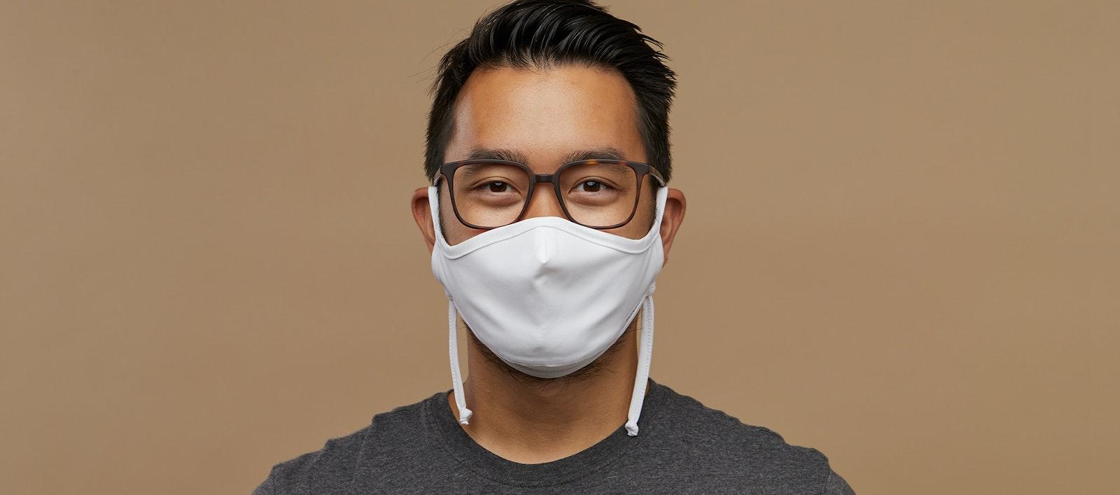 Affordable Fashion Glasses Accessory Men Women BonLook Mask White Front