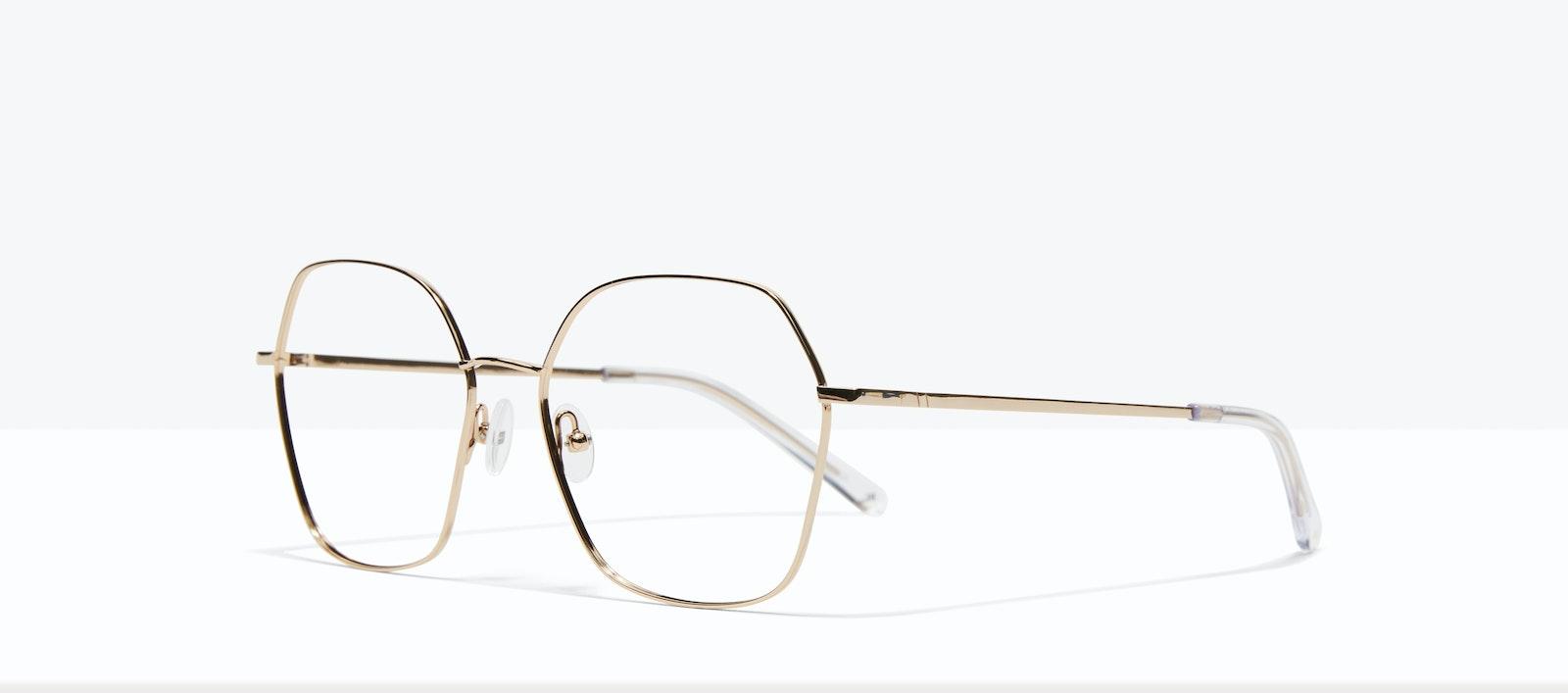 Affordable Fashion Glasses Square Eyeglasses Women Mersey Gold Tilt