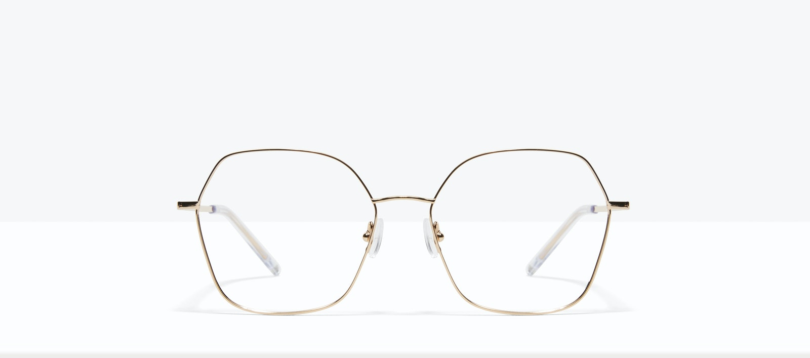 Affordable Fashion Glasses Square Eyeglasses Women Mersey Gold Front