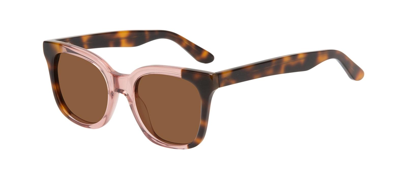 Affordable Fashion Glasses Square Sunglasses Women Mighty Rose Tort Tilt