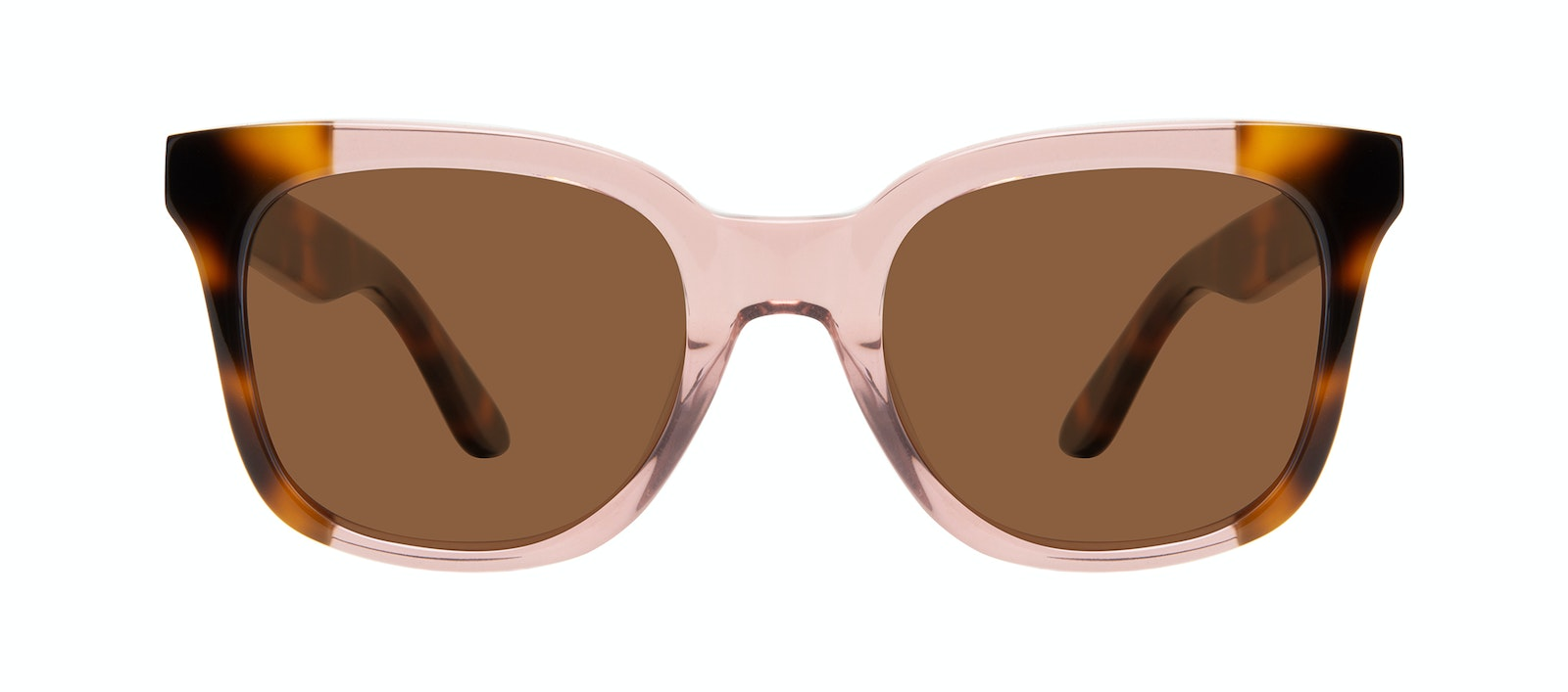Affordable Fashion Glasses Square Sunglasses Women Mighty Rose Tort Front