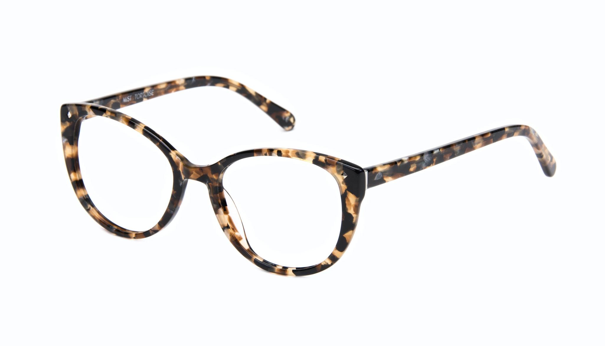Lunettes tendance Oeil de chat Lunettes de vue Femmes Mist Tortoise Incliné