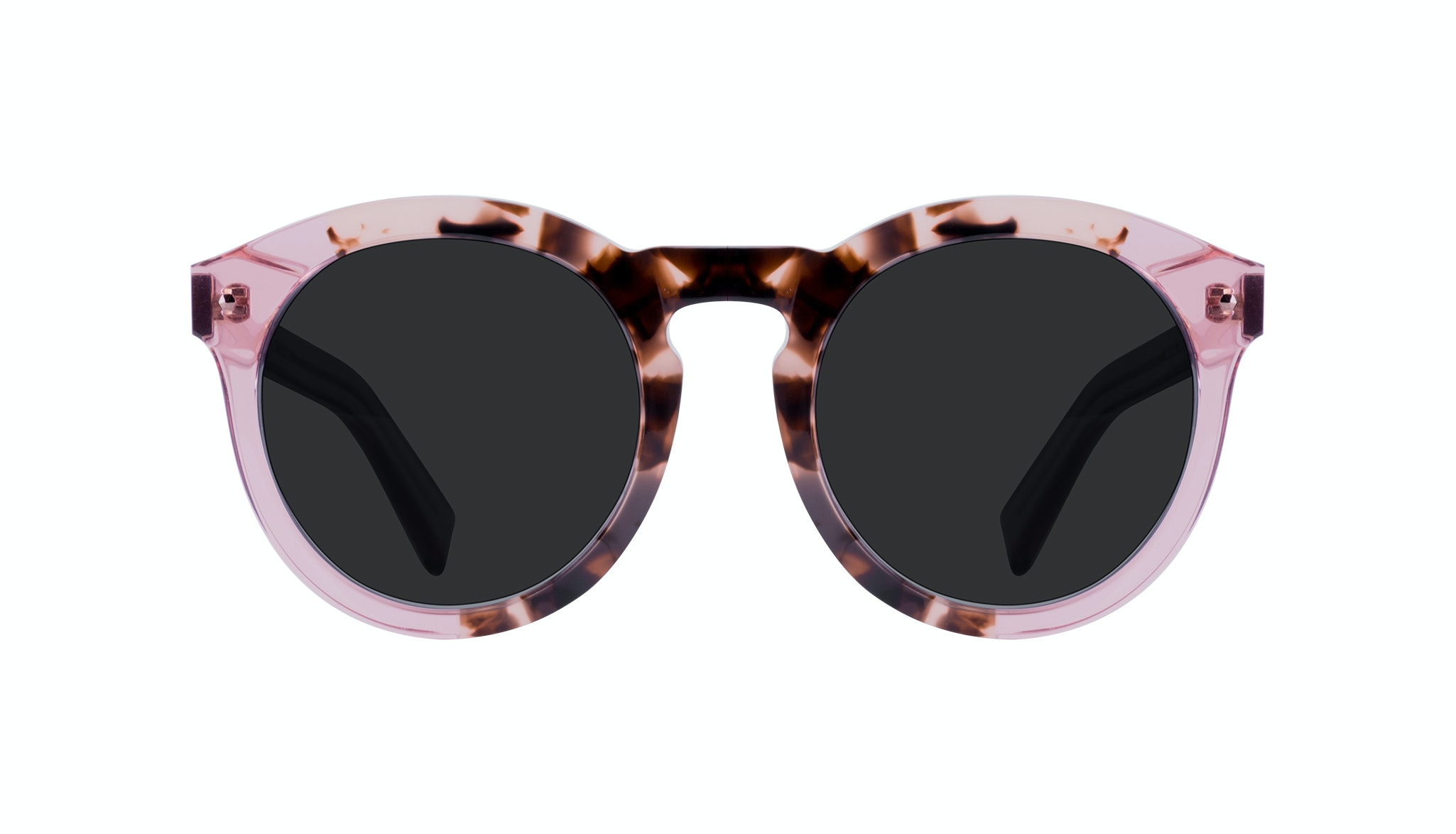 Affordable Fashion Glasses Round Sunglasses Women Mood Blush Tortoise