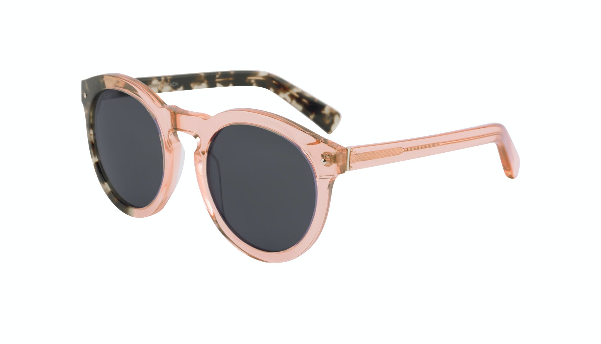 Affordable Fashion Glasses Round Sunglasses Women Mood Peach Tilt