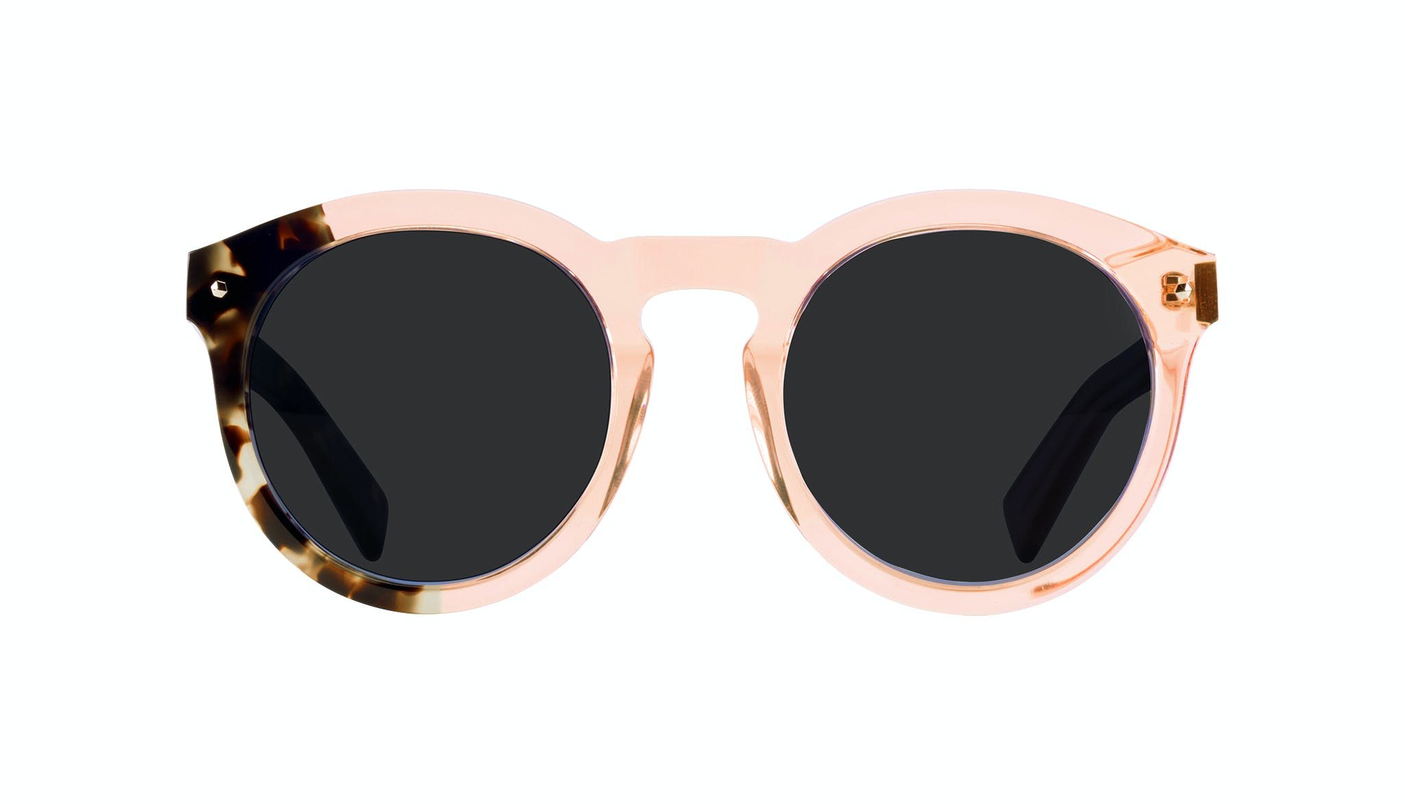 Affordable Fashion Glasses Round Sunglasses Women Mood Peach Front