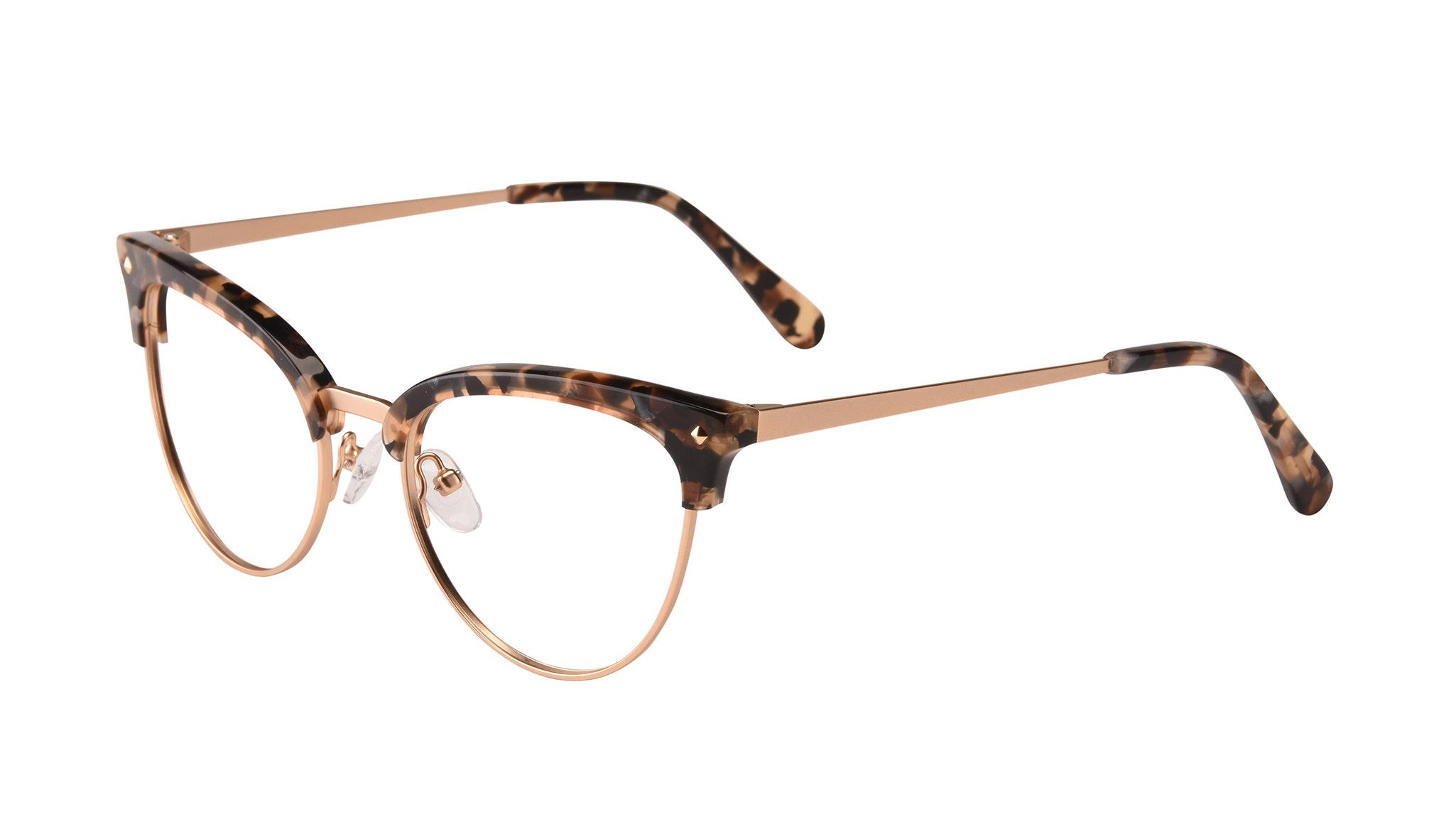 Affordable Fashion Glasses Cat Eye Daring Cateye Eyeglasses Women Moon Gold Flake Tilt