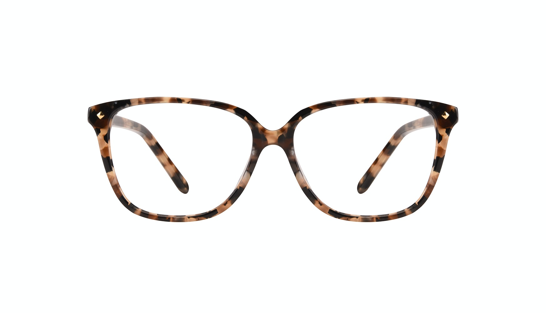 Affordable Fashion Glasses Rectangle Square Eyeglasses Women Muse Gold Flake Front