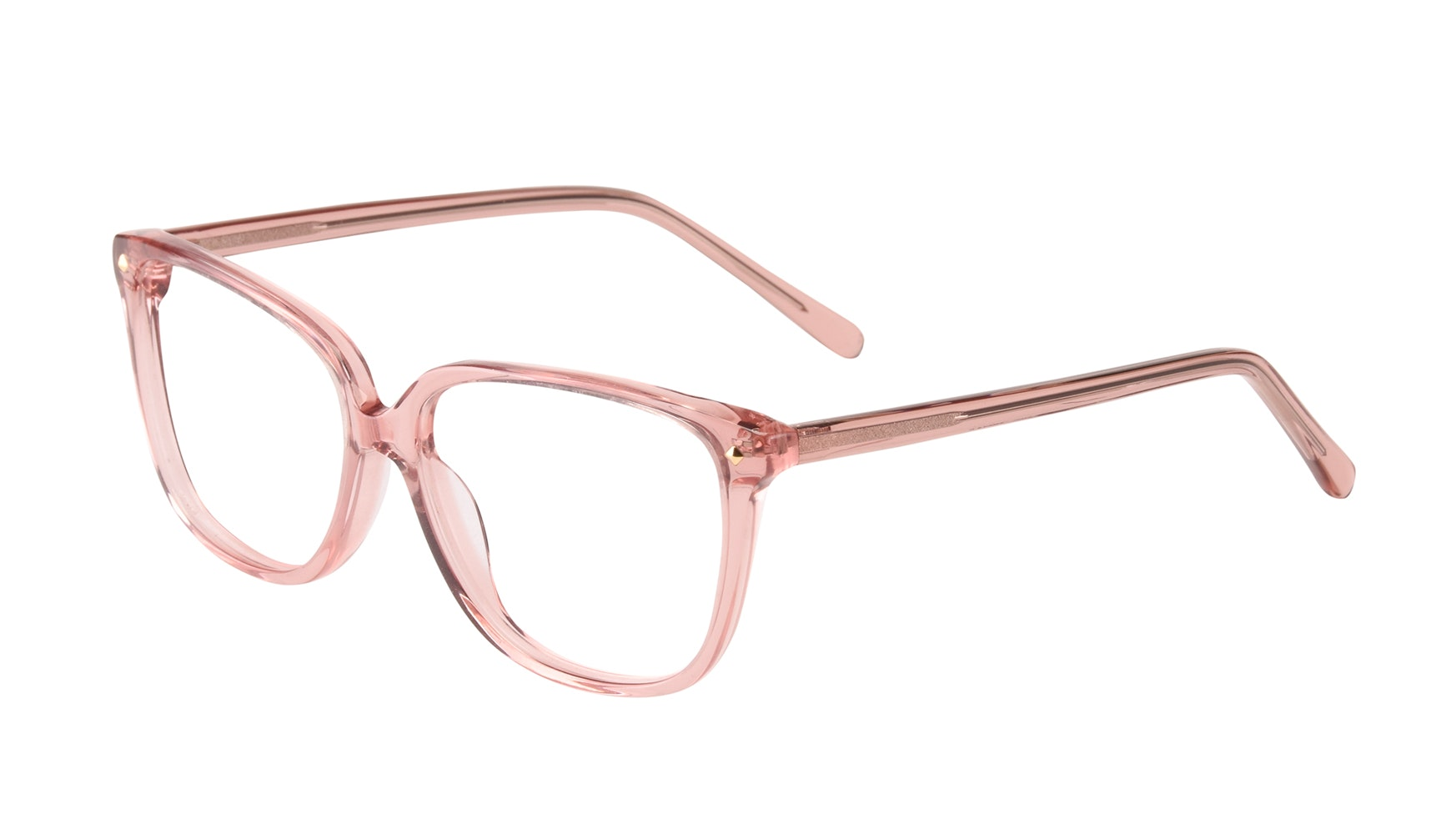 Affordable Fashion Glasses Rectangle Square Eyeglasses Women Muse Rose Tilt