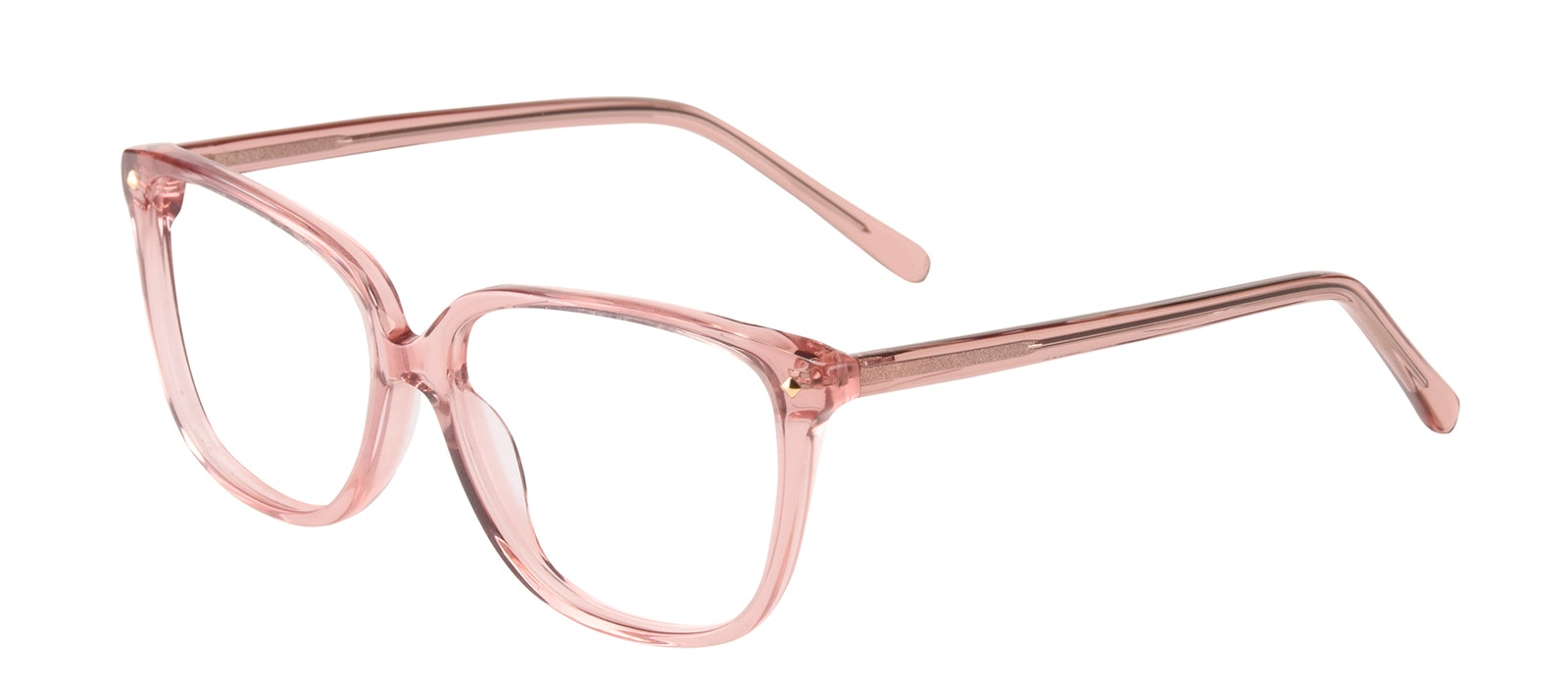 Affordable Fashion Glasses Rectangle Square Eyeglasses Women Muse Rose Tilt