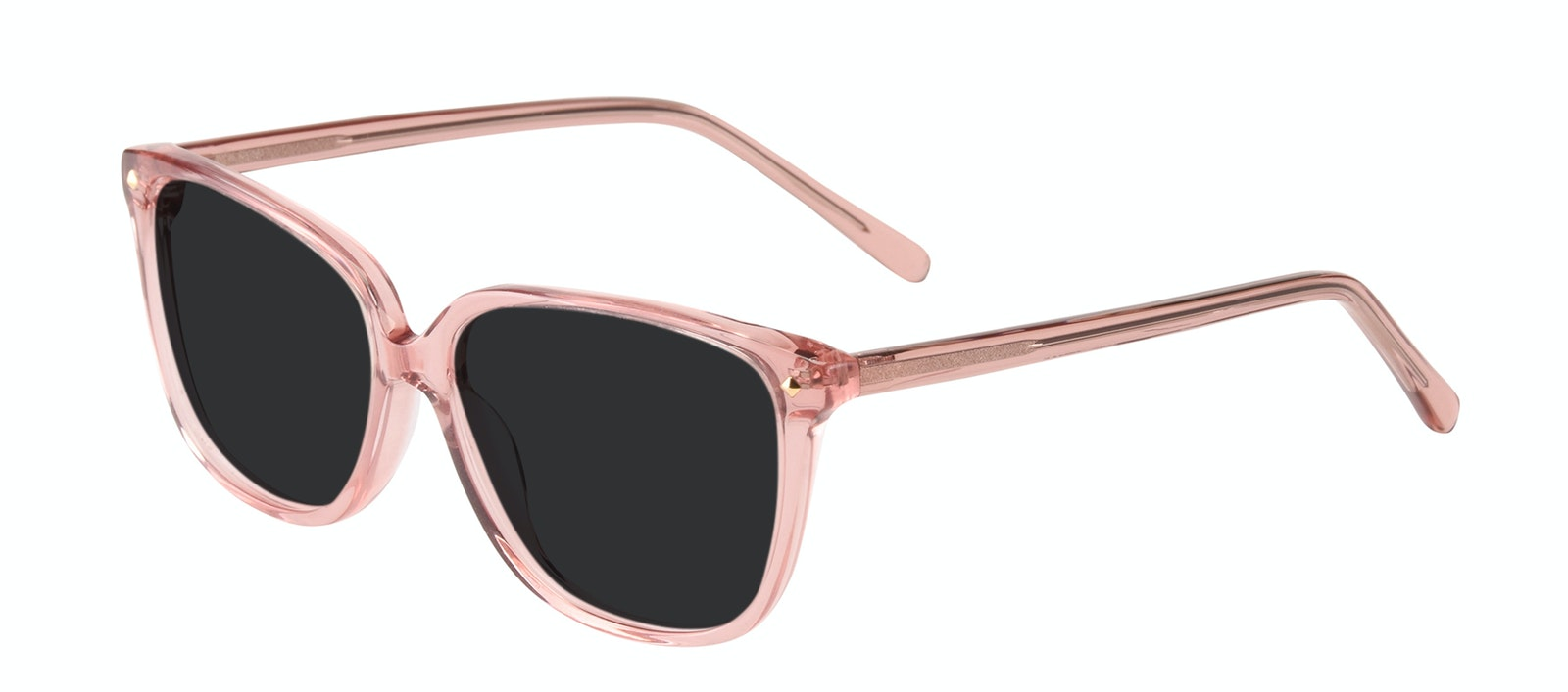 Affordable Fashion Glasses Rectangle Square Sunglasses Women Muse Rose Tilt
