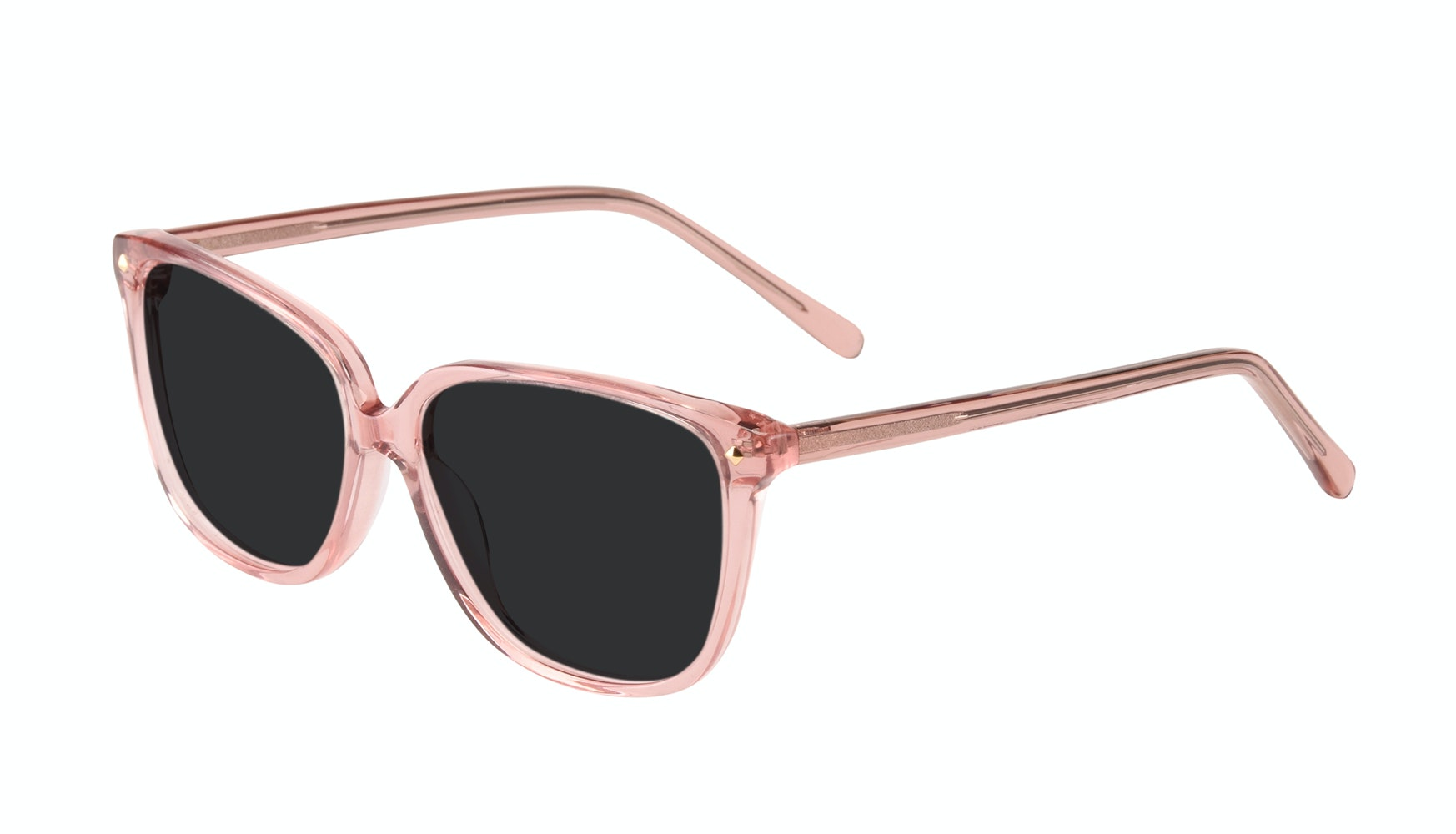 Affordable Fashion Glasses Rectangle Square Sunglasses Women Muse Rose Tilt