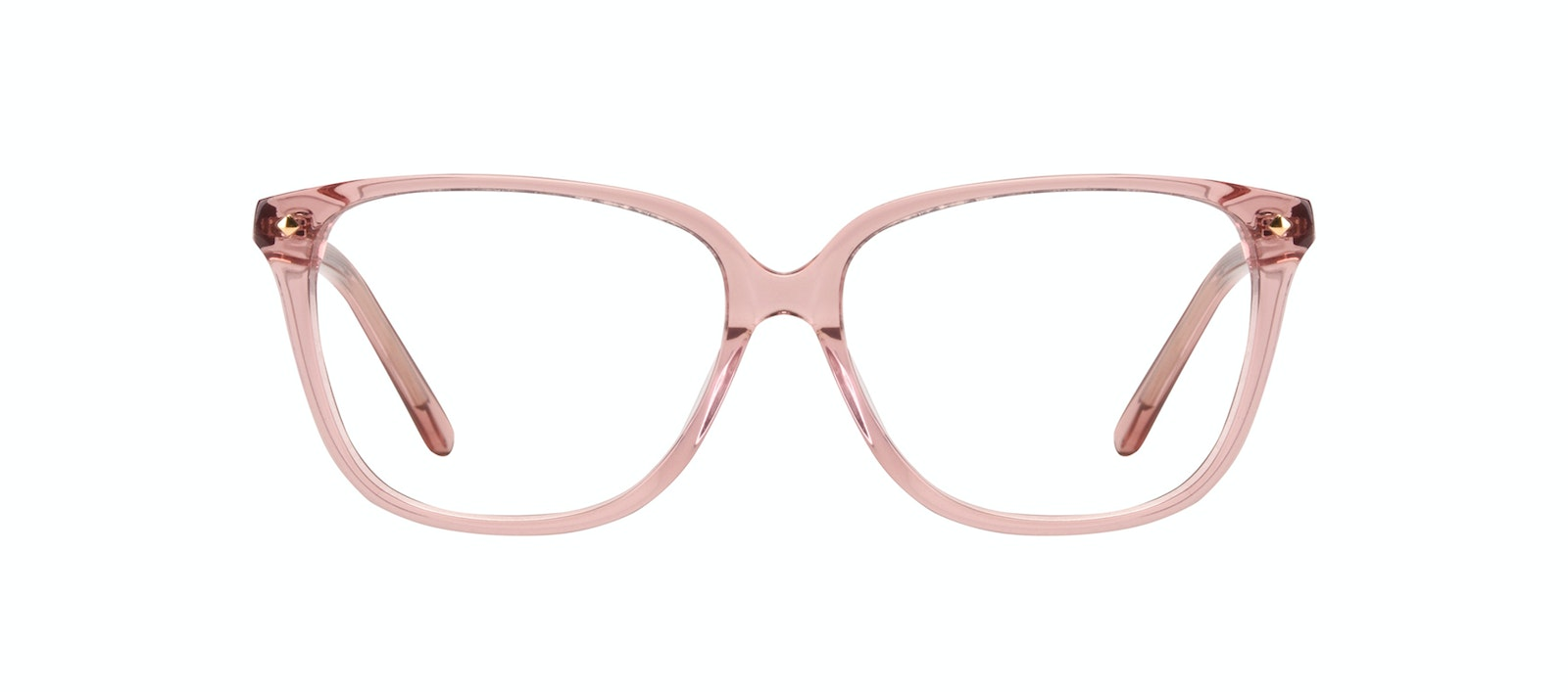 Affordable Fashion Glasses Rectangle Square Eyeglasses Women Muse Rose Front