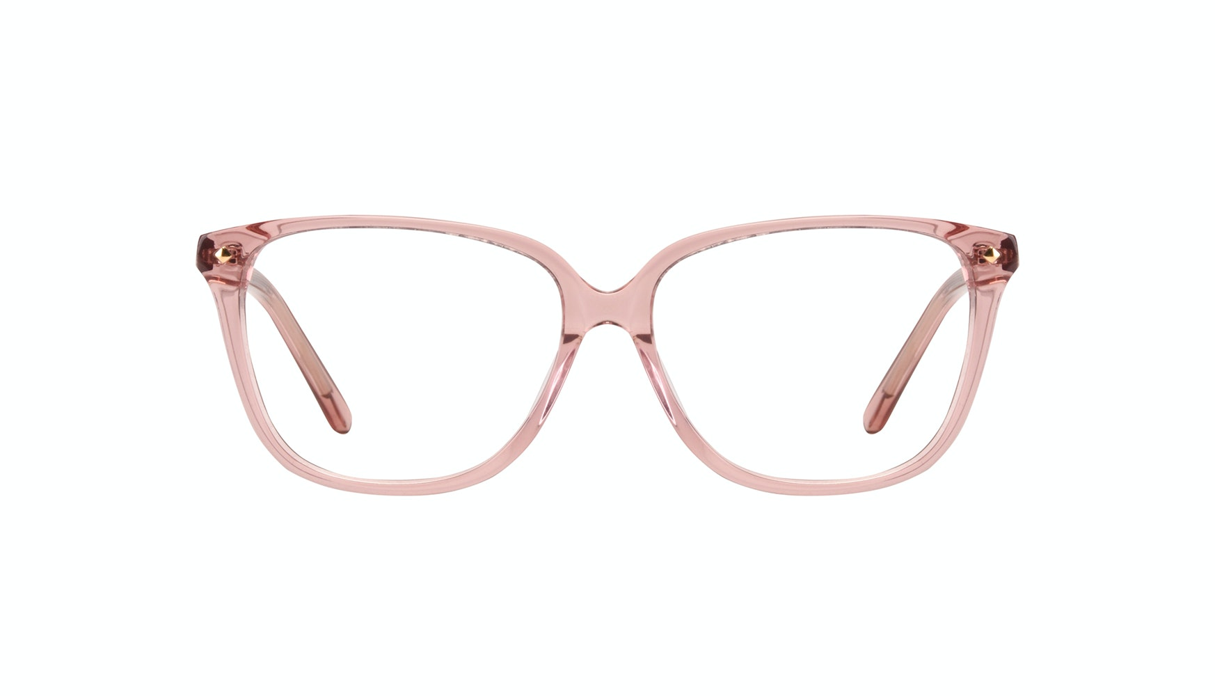 Affordable Fashion Glasses Rectangle Square Eyeglasses Women Muse Rose