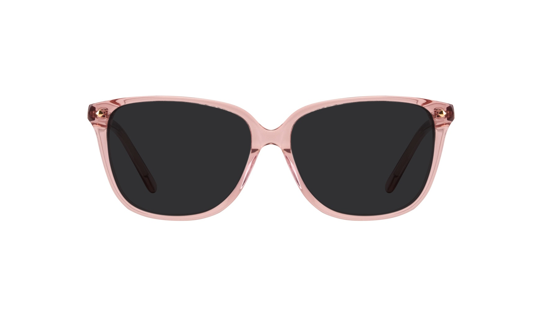 Affordable Fashion Glasses Rectangle Square Sunglasses Women Muse Rose Front