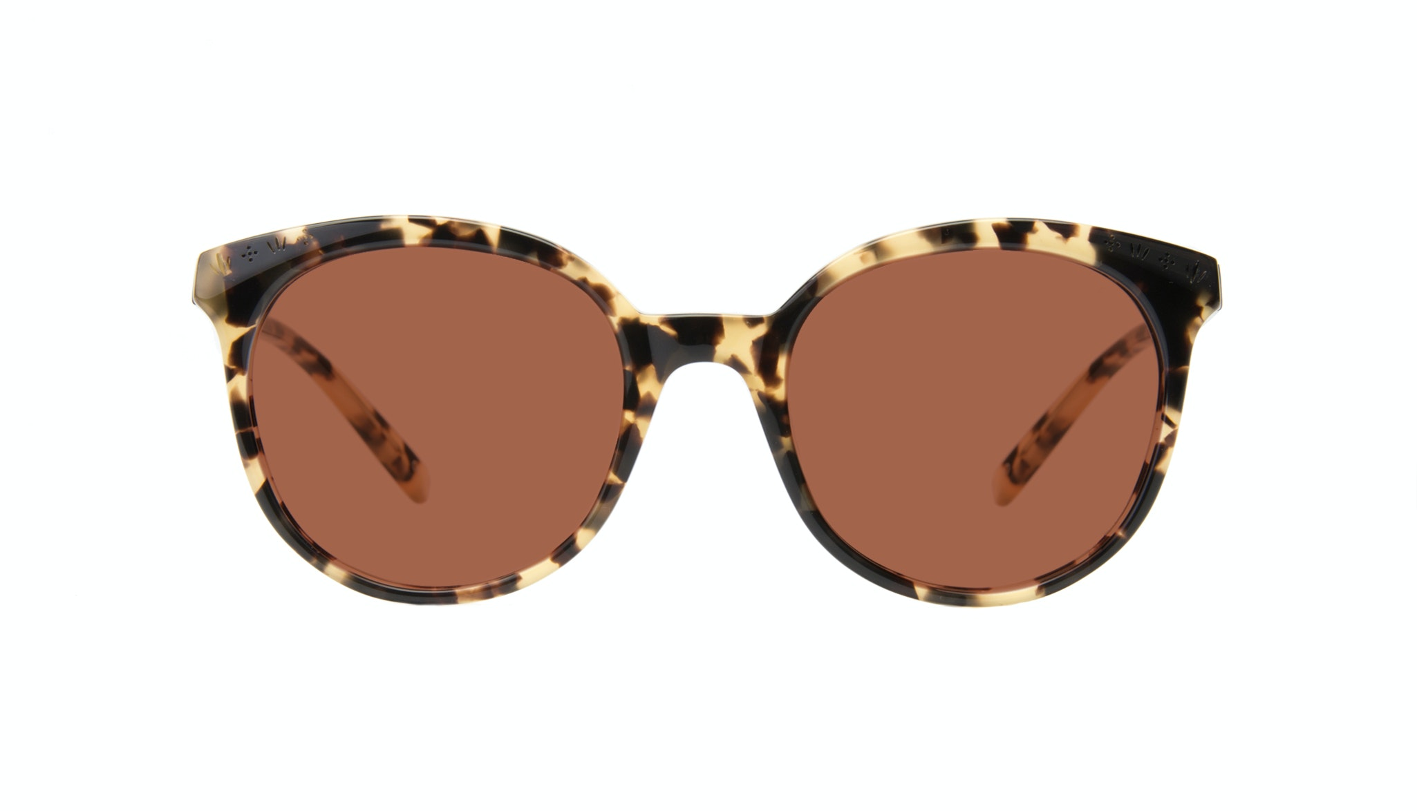 Affordable Fashion Glasses Round Sunglasses Women Must Tortoise Front