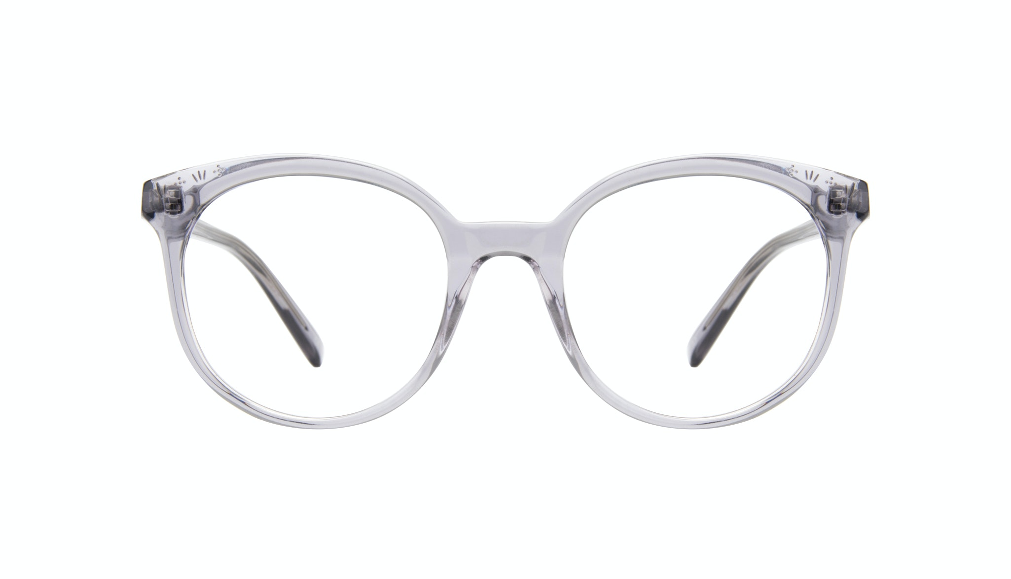 Affordable Fashion Glasses Round Eyeglasses Women Must Grey Front