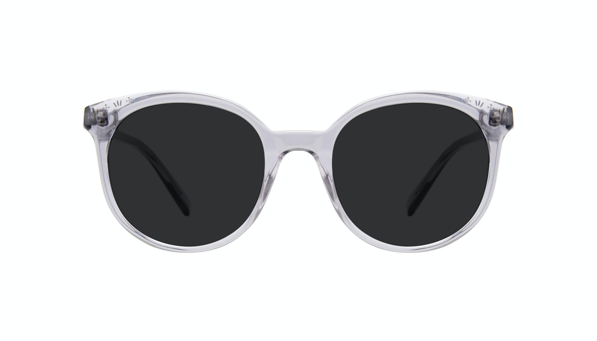 Affordable Fashion Glasses Round Sunglasses Women Must Grey Front