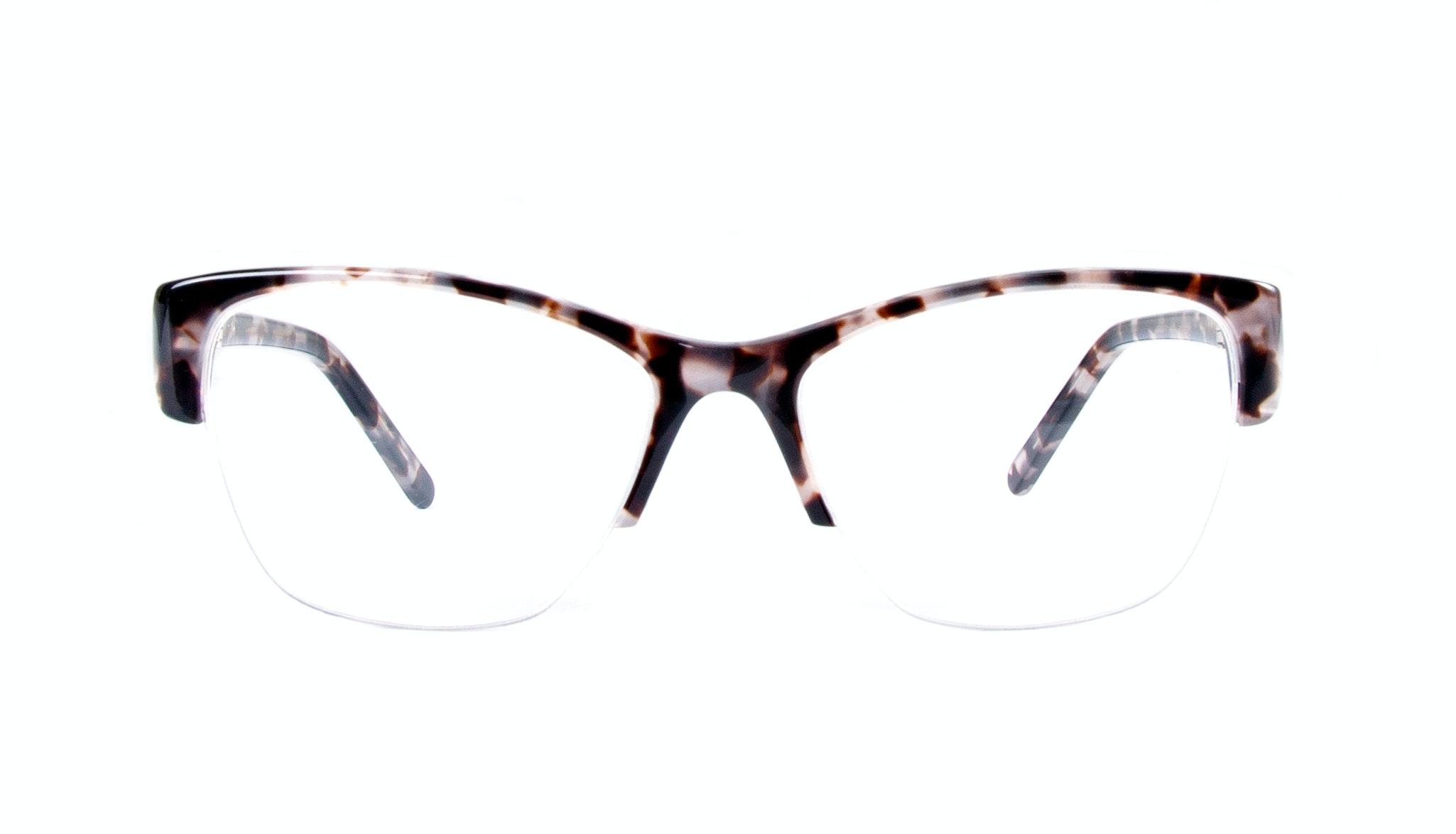 Lunettes tendance Oeil de chat Demi-Montures Optiques Femmes Myrtle Light Mocha Tortoise