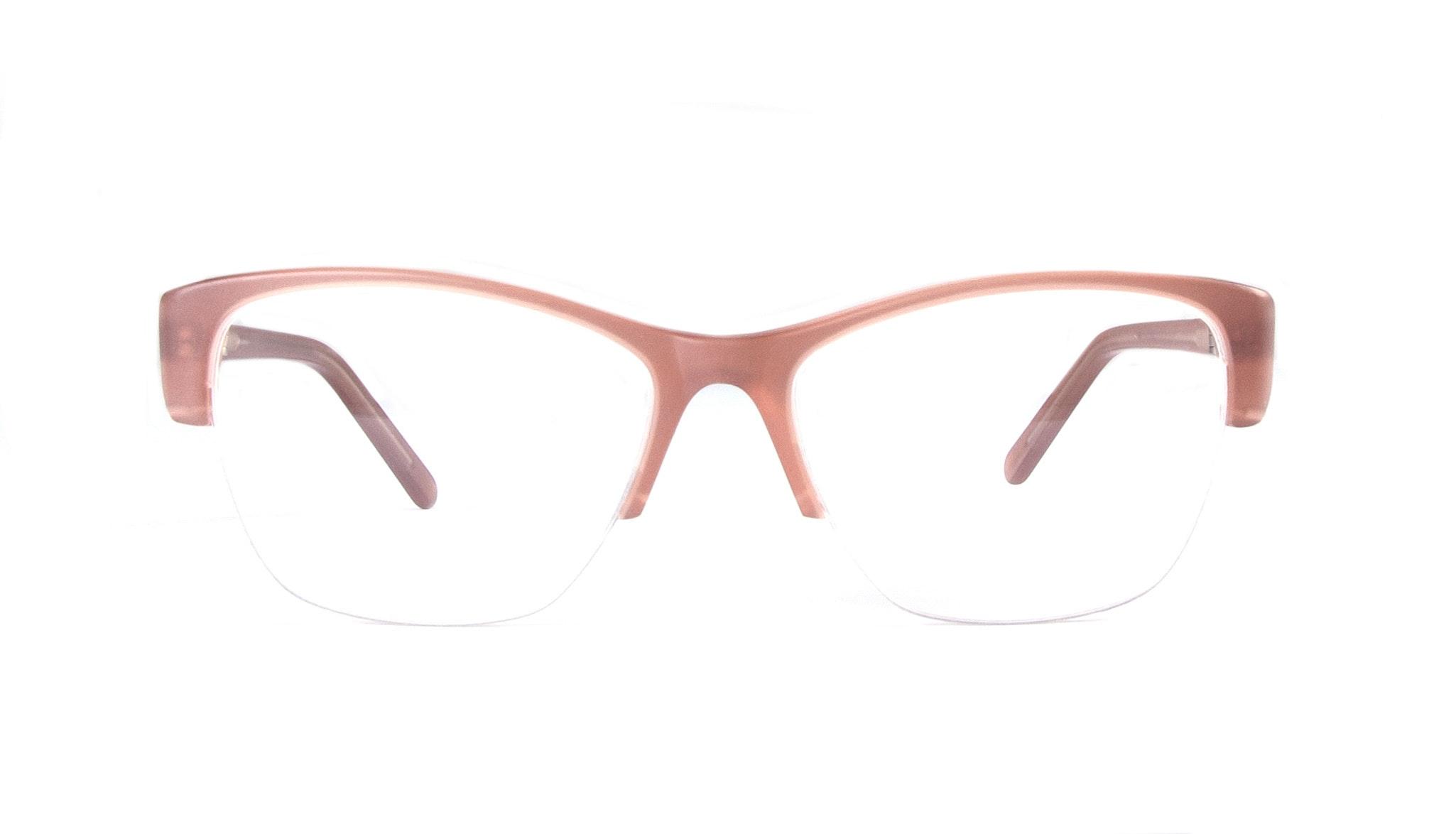 Lunettes tendance Oeil de chat Demi-Montures Optiques Femmes Myrtle Light Old Rose
