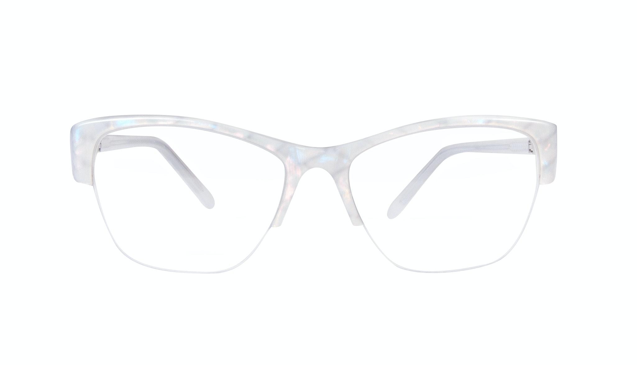 Affordable Fashion Glasses Cat Eye Semi-Rimless Eyeglasses Women Myrtle Light Opaline