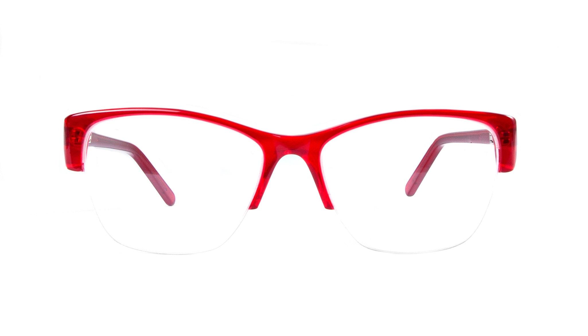 Affordable Fashion Glasses Cat Eye Semi-Rimless Eyeglasses Women Myrtle Light Rouge