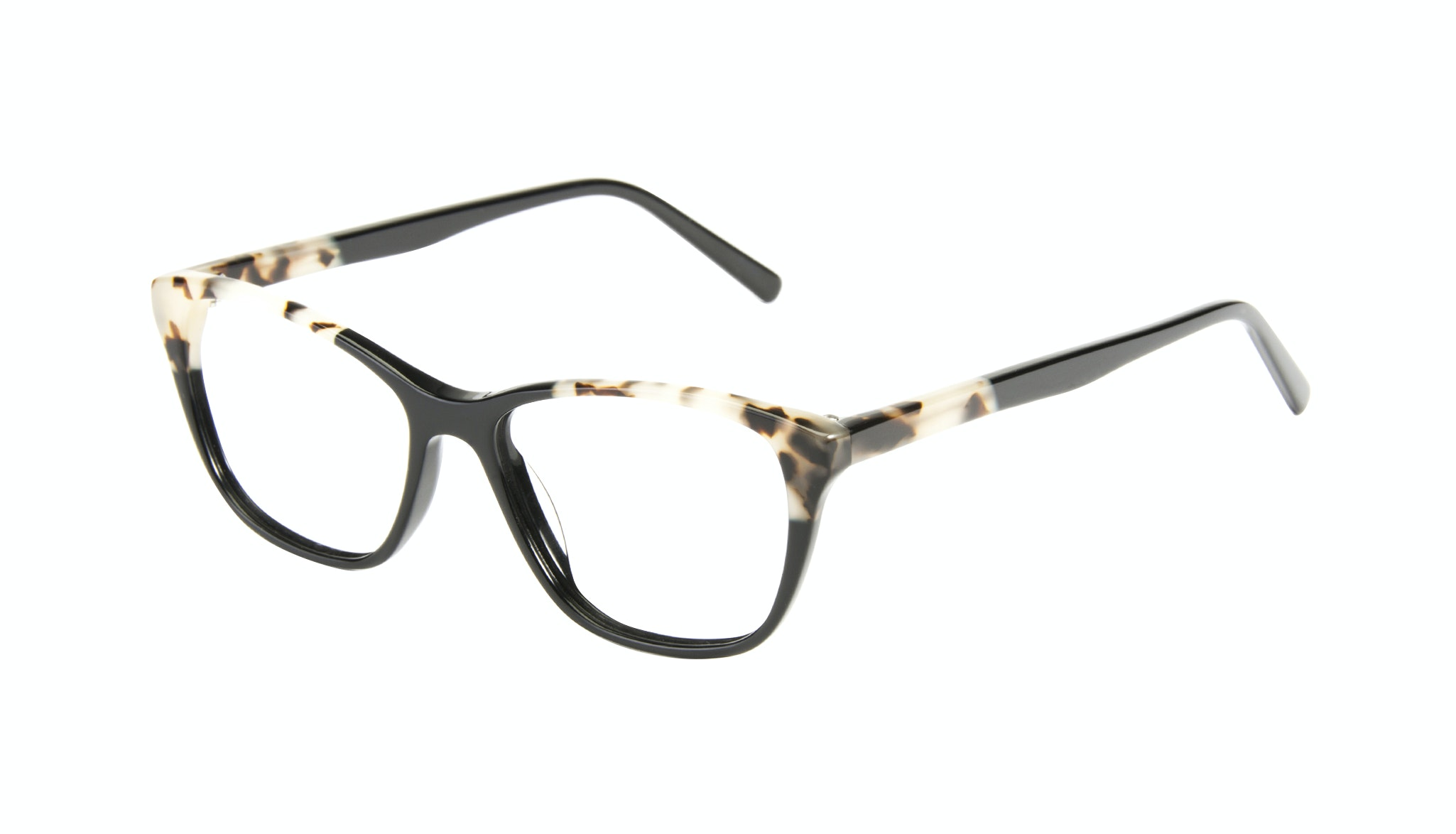 Affordable Fashion Glasses Cat Eye Eyeglasses Women Myrtle Petite Ebony Granite Tilt