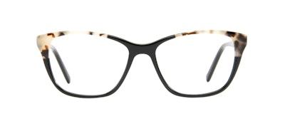 Lunettes tendance Oeil de chat Lunettes de vue Femmes Myrtle Petite Ebony Granite Face