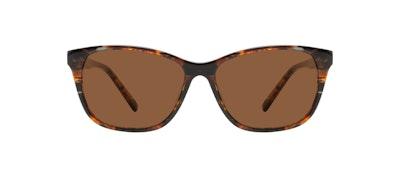 Affordable Fashion Glasses Cat Eye Sunglasses Women Myrtle Petite Mahogany Front